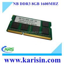Factory price ddr3 8gb laptop 1600 mhz ram for note book