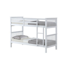 Modern Solid Pine High Quality Double Decker Wood Bunk Beds Kids