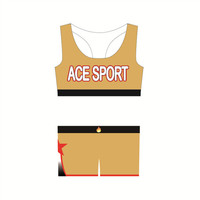 Custom Wholesale dye sublimated bra and shorts cheerleading uniforms all star practice wear