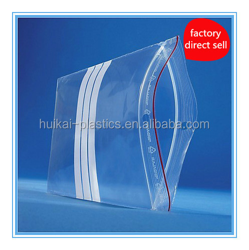 2016 resealable transparent pe food use plastic zipper bag for food