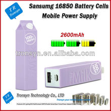 2014 New Arrival Samsung 16850 Battery Cells 2600mAh Portable Charger Power Bank And Mobile Power Supply