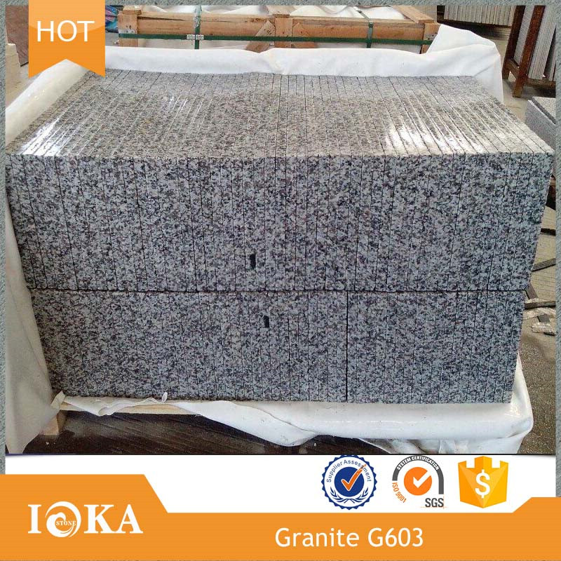Nature White Stone G603 Granite Stairs and Riser for Wall
