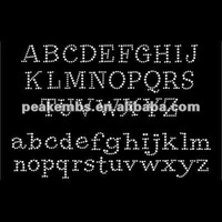 Alphabets Iron On Crystal Letters