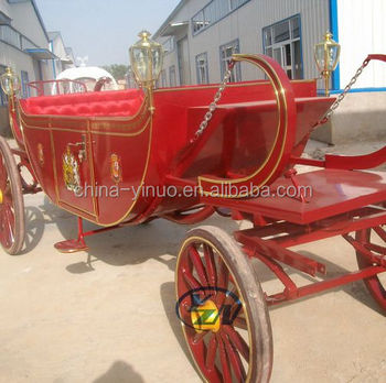 High quality 4 wheels royal horse drawn carriage for wedding for exhibition