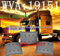 auto parts heavy truck brake lining manufacturer WVA 19151 for DAF Bova LAG Optare
