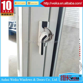 made in china tempered glass pvc sliding window with roller shutter