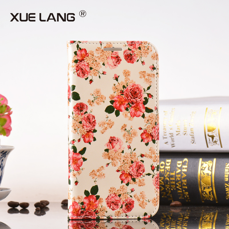 Luxury PU leather flip cover for iphone 6 case phone accessories mobile