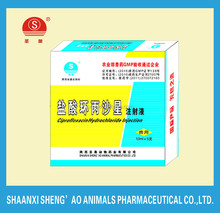 Veterinary Drugs Medicine Ciprofloxacin Hydrochloride Injection for animal use