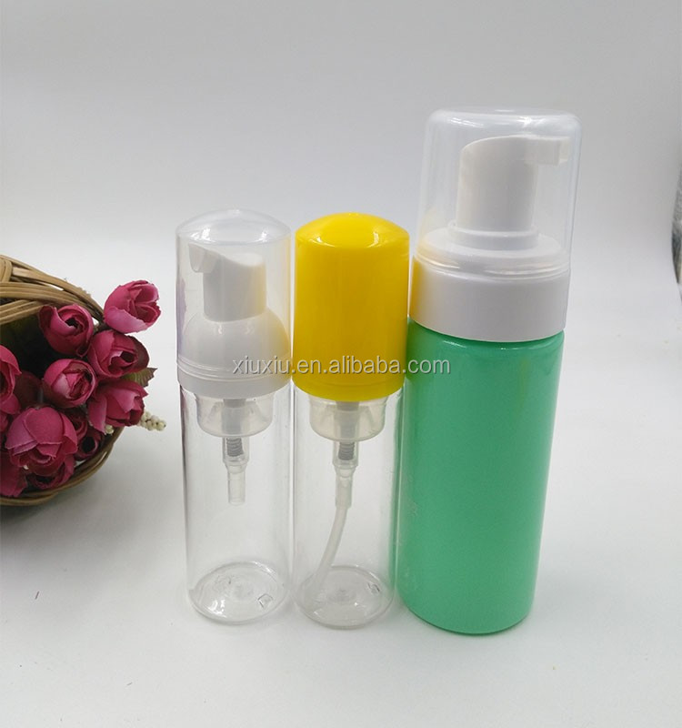 Brush cleaning foam bottle Moss massage PET plastic cosmetic facial foam bottle 120 ml
