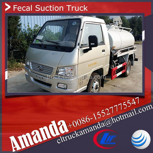 Foton Forland 4*2 2-3m3 small mini used septic trucks used septic tank trucks septic pump truck