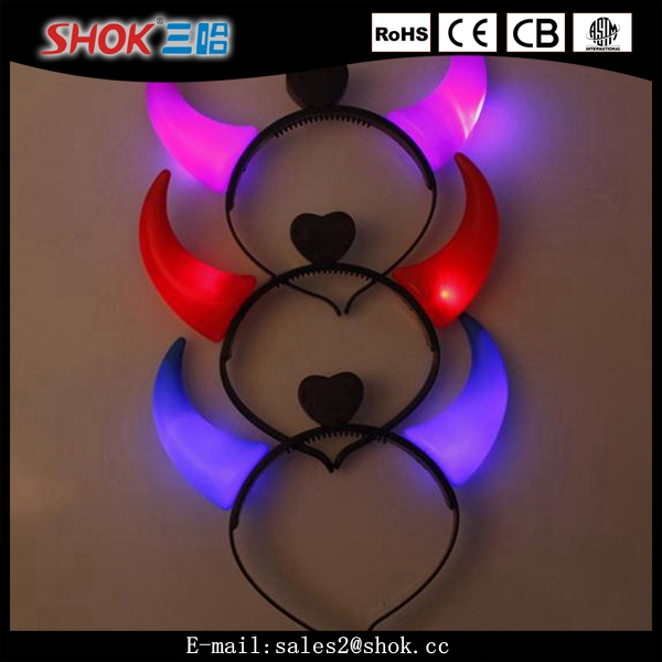 Decorative Led Flashing Headdress/Devil Horns Flash Hair Bands/party Item For Teenagers