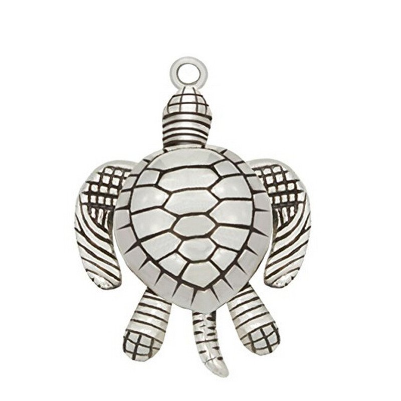 antique silver movable sea turtle charms pendant jewelry