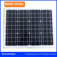 Mono 50Wp Solar Panel Mini Panel LED Panel from Powerician