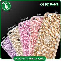 3D crystal soft Kaleidoscope diamond 5 colored tpu case for iphone 6