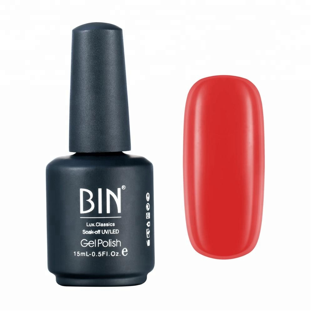 Bin Hot Selling 60 Color Stock UV <strong>Gel</strong> 3 step <strong>gel</strong> polish 15ml