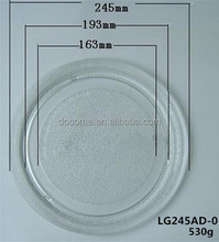 28.8cm flat microwave oven parts, glass plate, microwave oven glass tray