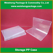 Plastic transparent hairdressing tools PP storage case/packaging case
