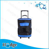 Camping Large capacity 1680D waterproof Trolley Cooler Bag With Wheels Fashion