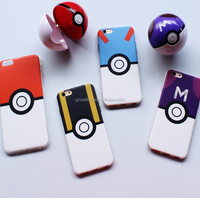 Popular Mobile Accessories Poke Ball Soft TPU Pokemon Phone Case For iphone 6
