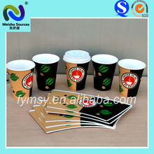 PE coated printed paper cup fan/paper cup blank/paper cup sheet