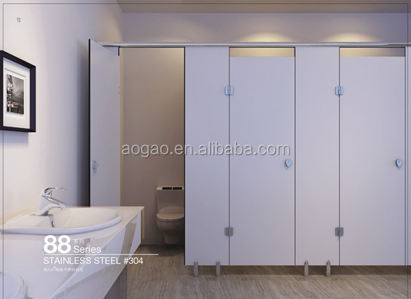 Aogao 88 series cheap compact HPL public toilet cubicle partition