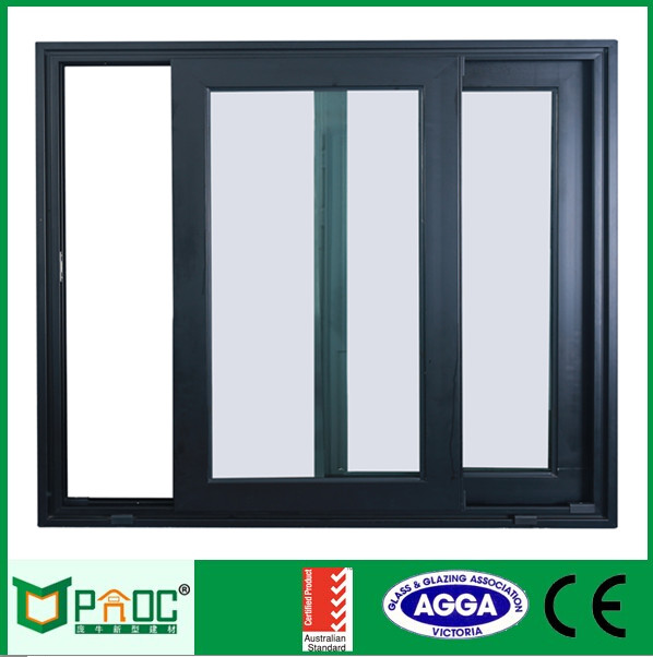 Surface finished Thermal Break Aluminum Sliding Windows with factory price directly