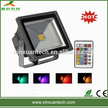 remote control dmx control aluminum alloy bridgelux long lifespan christmas color changing outdoor led flood light