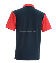 Stitching custom two color tones polo t shirt with panels