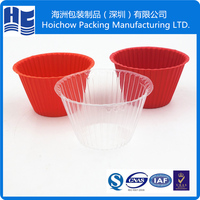 Eco-friendly blister plastic cupcake packaging container box