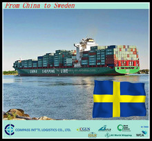 Inrenational Cheapest logistics rate sea shipping to KALIX port Sweden from China