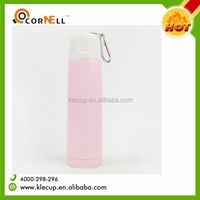 260ml Sublimation printable stainless steel vacuum flask pink bullet thermos king water bottle