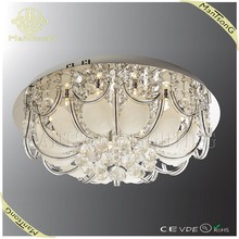 Hot sale G4 LED contemporary home decor crystal lighting glass leaf ceiling lights