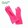 Dirt resistant dish washing natural latex coloured kitchen household glove