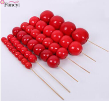 artificial chinese traditional food sugar-coated haws photography props model