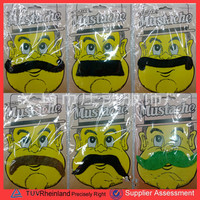 PGB-0052 Wholesale Carnival Christmas Halloween Party Supplies 12pcs/set Self-adhesive Artificial Mustache Fake Beard