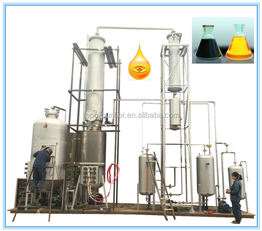Waste motor oil recycling machine with vacuum distillation technology, used motor oil cleaning machine, car used oil purifying