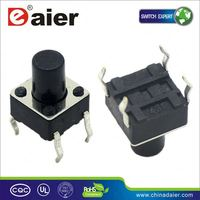 Daier green led tact switch with power logo