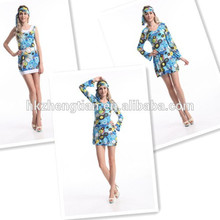 instyles carnival uk Ladies 60s 70s Retro Hippie Go Go Girl Costume Party festival costumeinstyles fancy dress