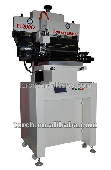 touch screen PLC printer semi auto solder paste screen printing machine smt assembly printing machine