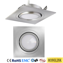 5W Aluminum IP44 Tiltable Square LED downlight Retrofit with Dimmable LED Module