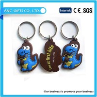 MOQ 50 pcs animal promotional wholesale keyring pvc keyring