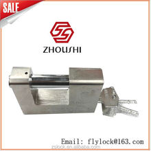 Factory Wholesale Cheap Solid Chrome Plated Rectangle Padlock Heavy Duty