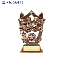 Gold Sports Stars Best Actor Actress Awards Trophy Custom Personalized Engraved Hand Painted Design