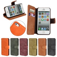 High Quality flip leather case for iphone 5 , for iphone 5 5s case