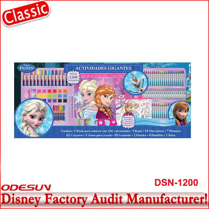 Disney Universal BSCI Carrefour Factory Audit Kungfu Panada Frozen Puzzle School Supply Stationery Gift Set13