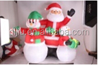 6 FT Christmas Inflatable Santa Claus Family with Snowman Outdoor Balloon Decoration