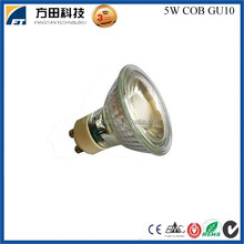 New led lighting product in China market glass COB LED GU10 spot light