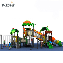 Outdoor plastic swimming pool tube slide playground equipment