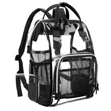 New Design Transparent Backpack <strong>Bag</strong> Organizer Black Clear PVC <strong>Bag</strong> Zipper