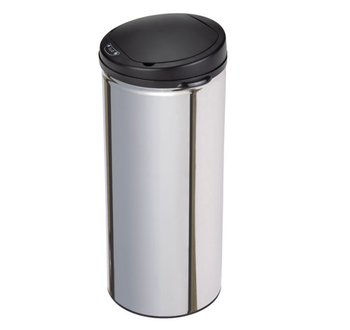 13 gallon hotel room indoor stainless steel garbage bin